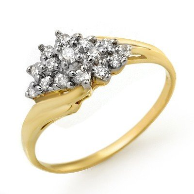 Natural 0.25 ctw Diamond Ring 14K Yellow Gold * MSRP $8