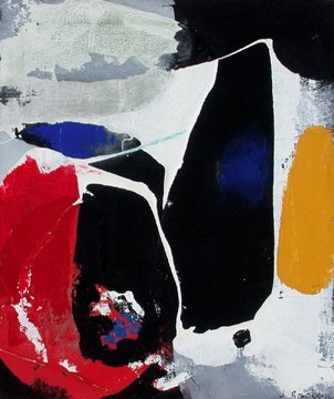 037: JAMES BROOKS  ABSTRACT EXPRESSIONIST PAINTER