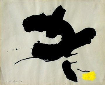 038: JAMES BROOKS  ABSTRACT EXPRESSIONIST PAINTER