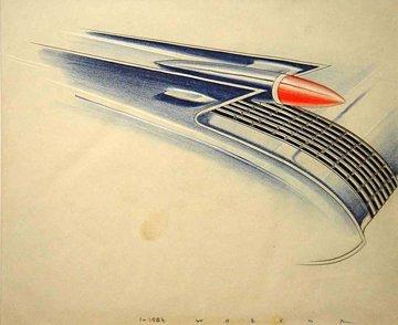 157: PETER WOZENA CONCEPT CAR DESIGNER FOR GM b. 1914
