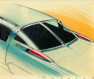158: PETER WOZENA CONCEPT CAR DESIGNER FOR GM b. 1914