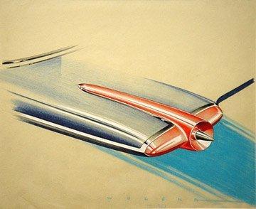 159: PETER WOZENA CONCEPT CAR DESIGNER FOR GM b. 1914