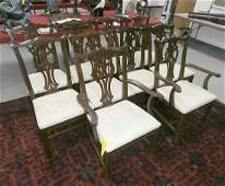 Set of 10 Mahogany Ethan Allen Dining Room Chairs