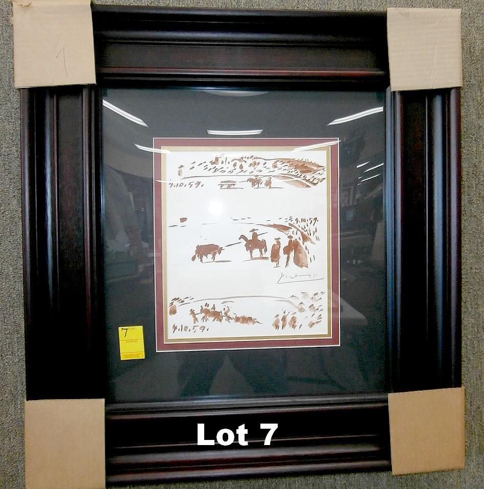 """Original Lithograph """"Toros Y Toreros"""" by Picasso"""