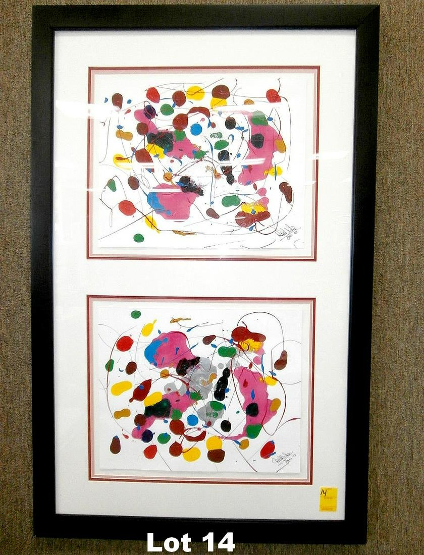 "Original Oil on Paper ""Love"" by Wheller"