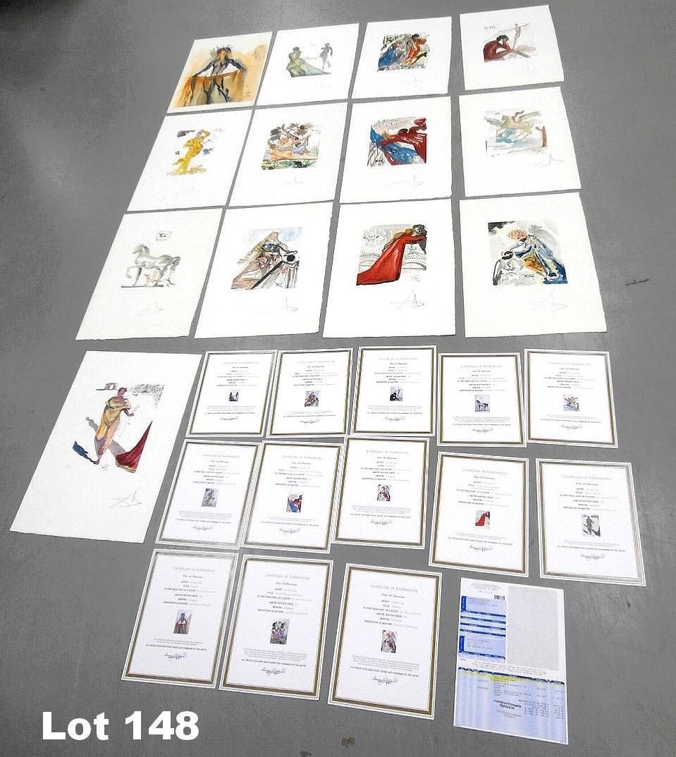 """Lithograph Set """"The Love of Ovid Suite"""" by Dali"""