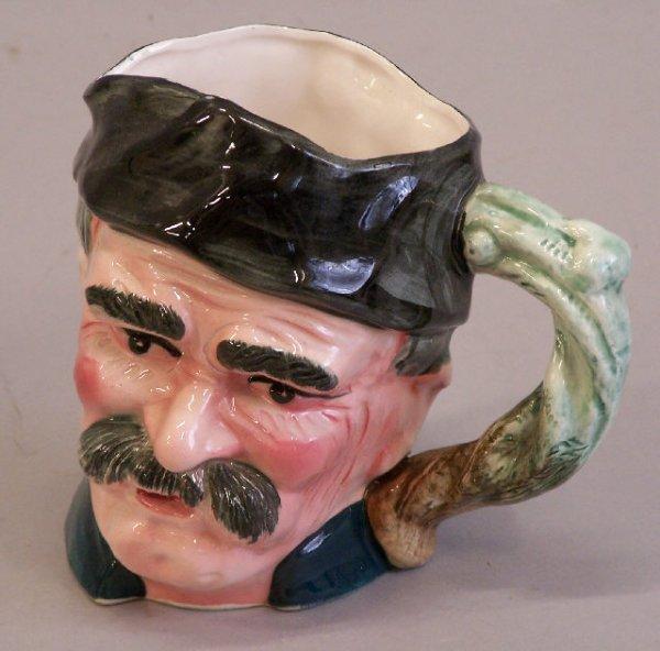 5: European Majolica pottery figural Toby mug