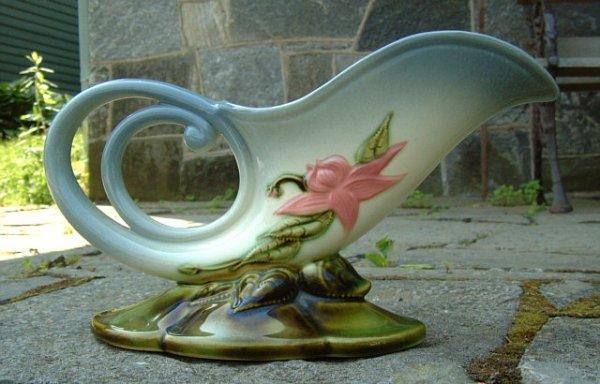 6: Vintage Cornucopia Hull Art Pottery Vase