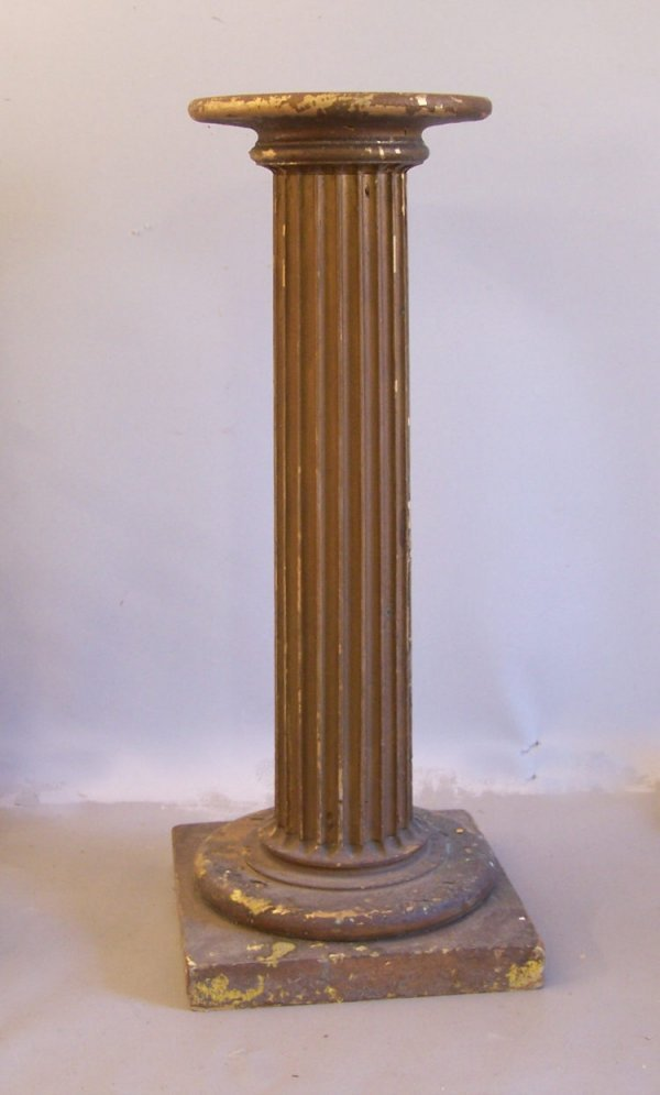 10: Antique column pedestal with gold leaf