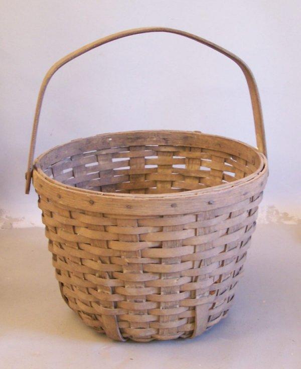 11: Antique country splint basket