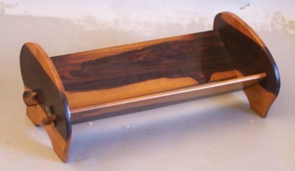 12: Lignum vitae wood book holder