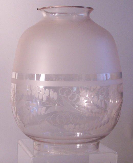15: Astral kerosene lamp blown glass shade