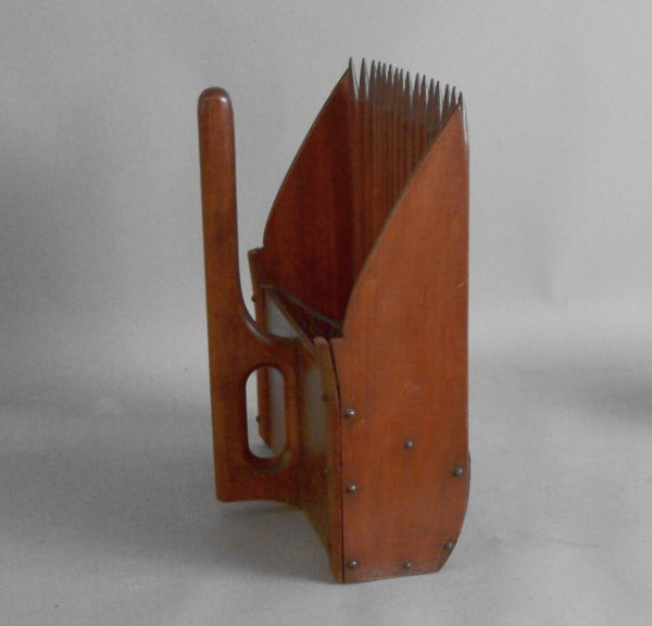18: American country cranberry scoop c1850