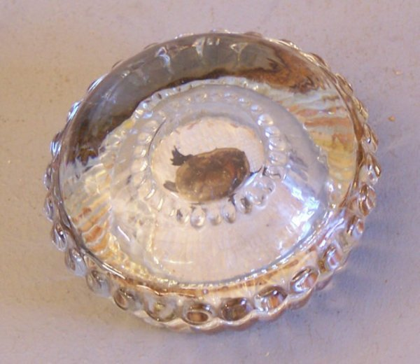 21: Antique glass turtle paper weight