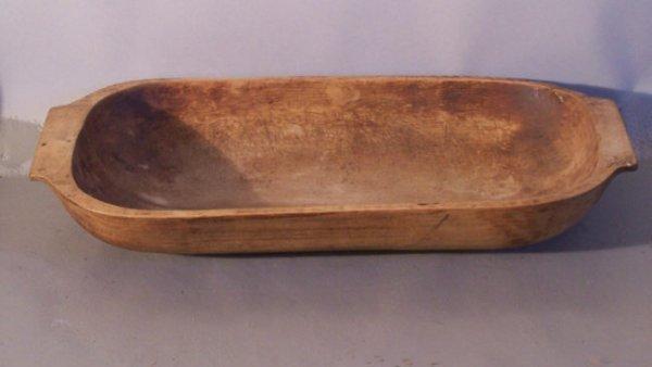 22: Antique wooden dough bowl c1800