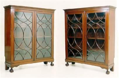 123: Pr  Ernest Hagen NY bookcases mahogany
