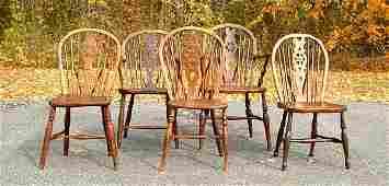 155: Longridge English wheel back Windsor chairs