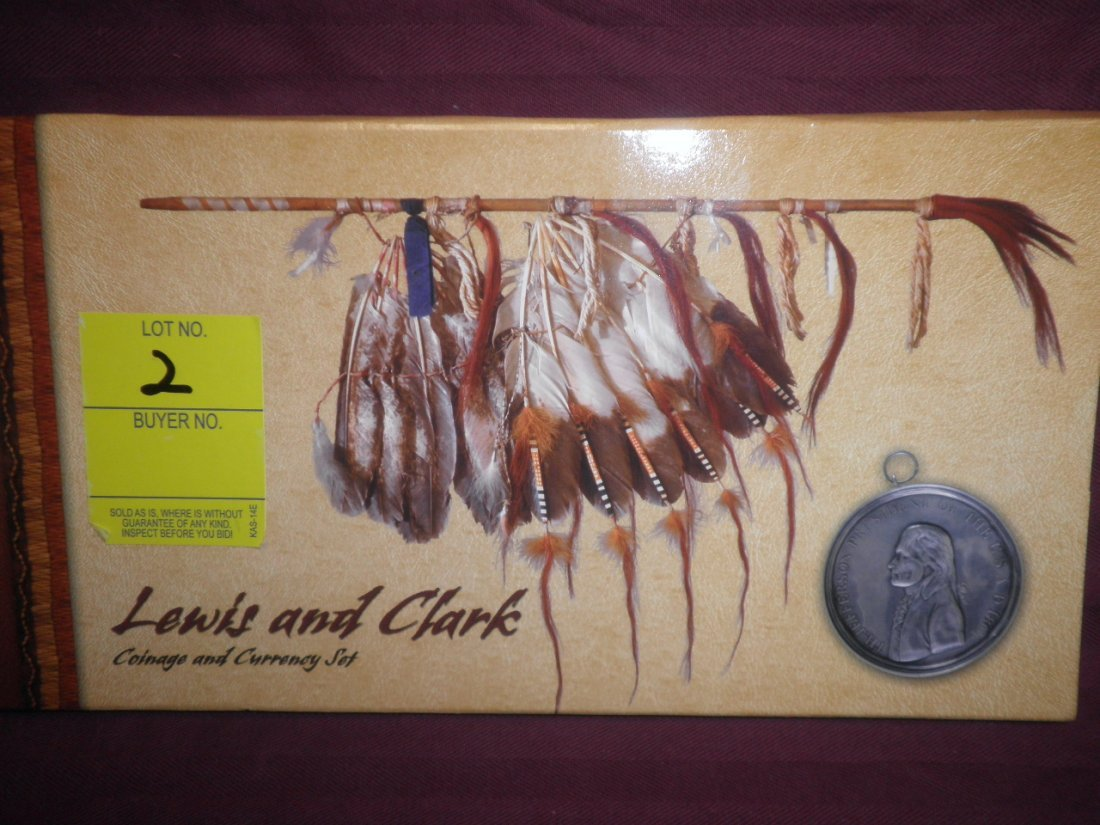 2: Lewis and Clark Coin, Currency, stamp set