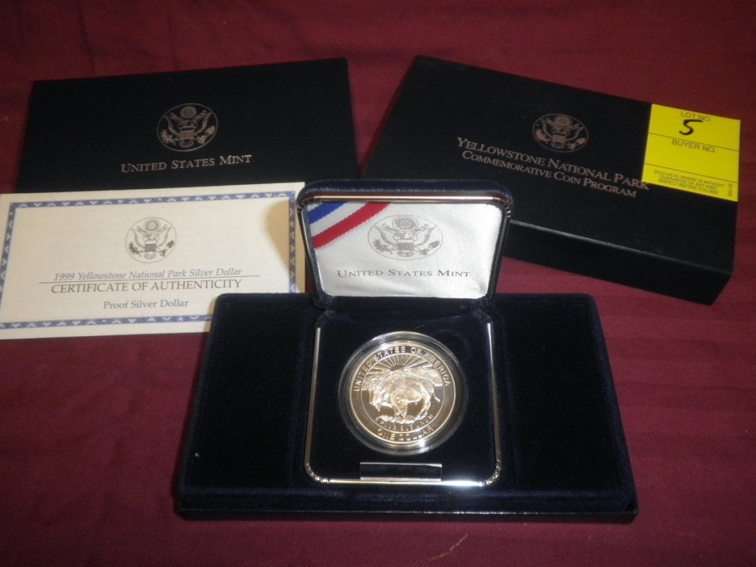 5: US Yellowstone Park 1999 1 Coin Proof