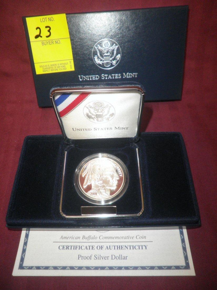 23: 2001 Proof Buffalo Silver Dollar Commemorative