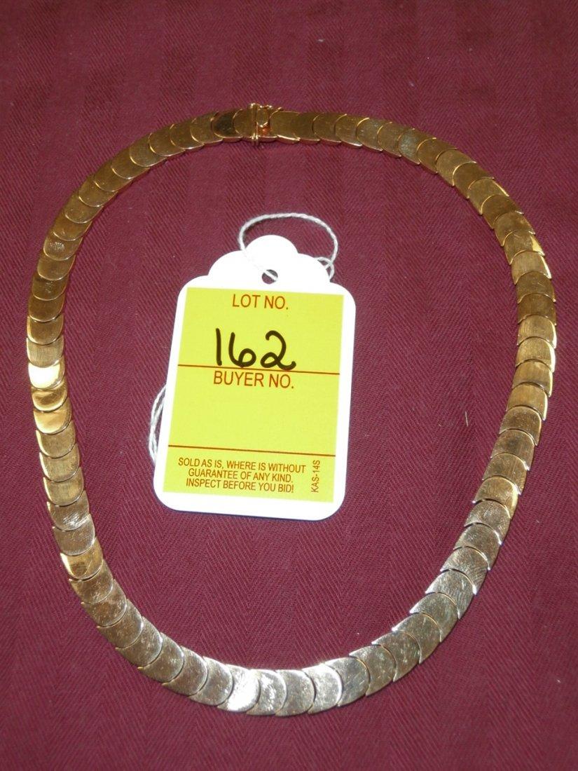162: 18kt Gold Necklace, 30.8 dwt.