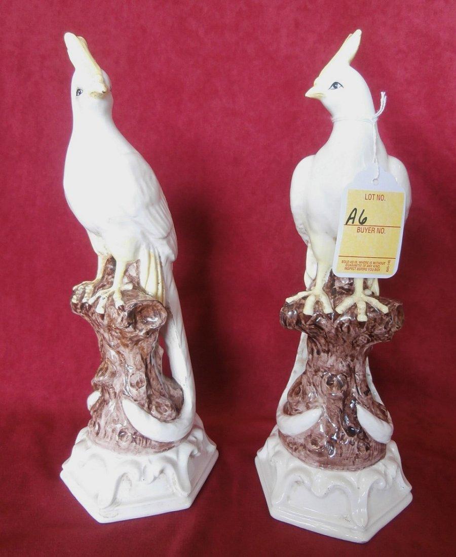 Pair Of Italian Majolica Bird Figurines