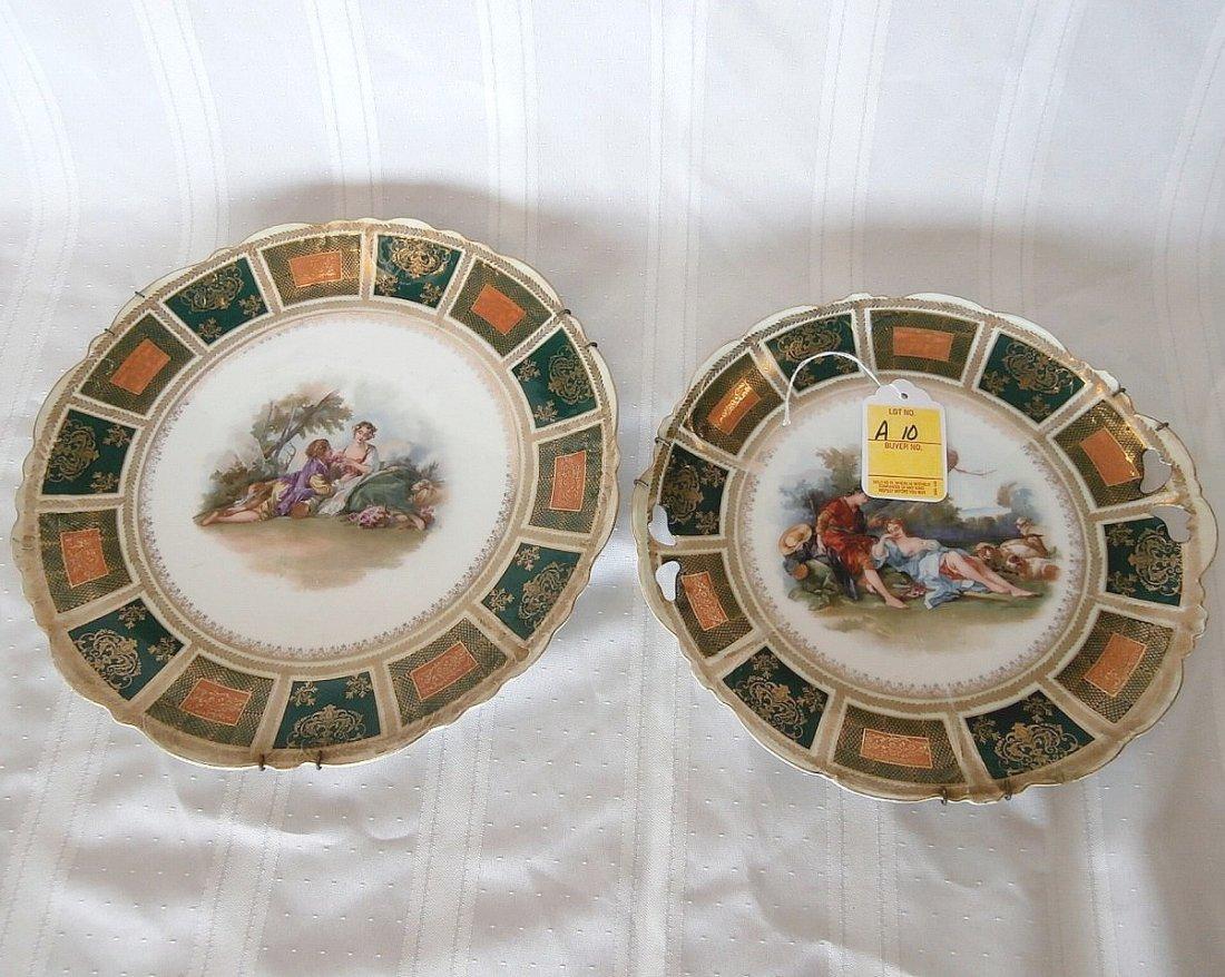 Two Piece Set Austrian Portrait Plates