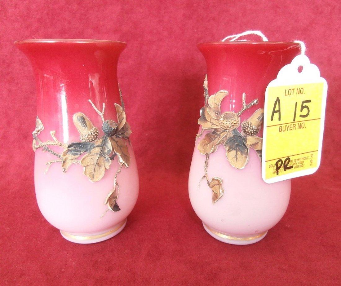 Pair Of Peachblow Vases