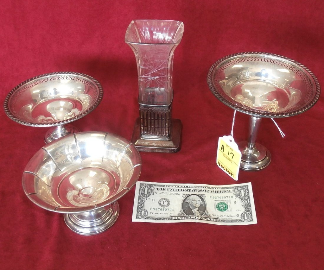 Four Piece Sterling Silver Lot