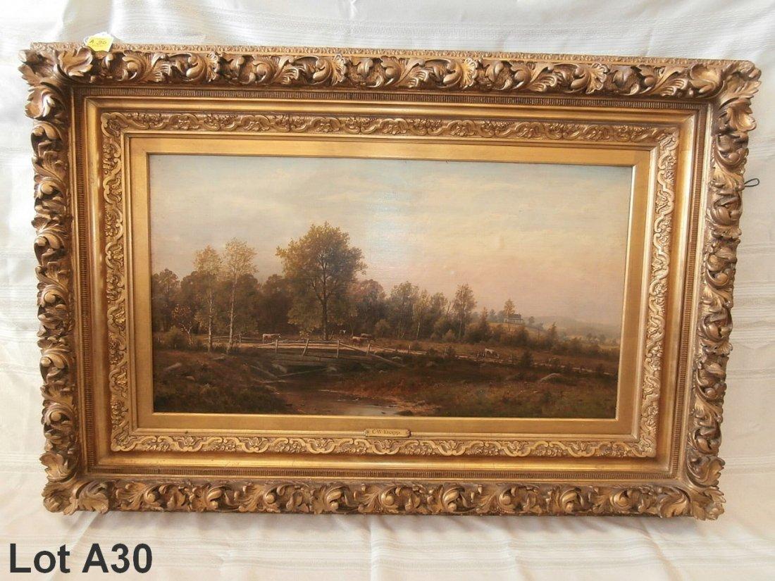 Oil On Board Landscape By Charles Wilson Knapp