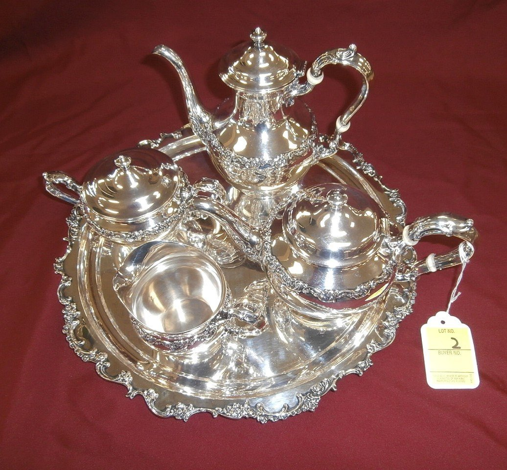 Sterling Silver 5 Pc Coffee and Tea Set