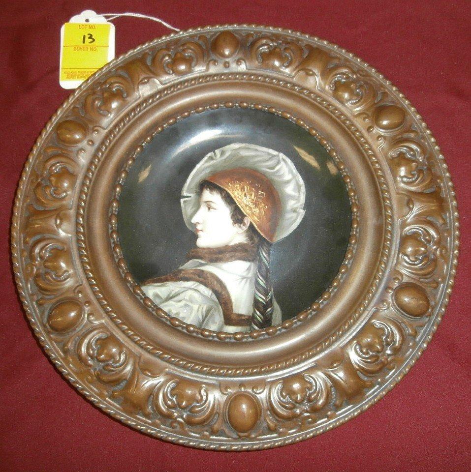 19th Century Porcelain Portrait Plaque
