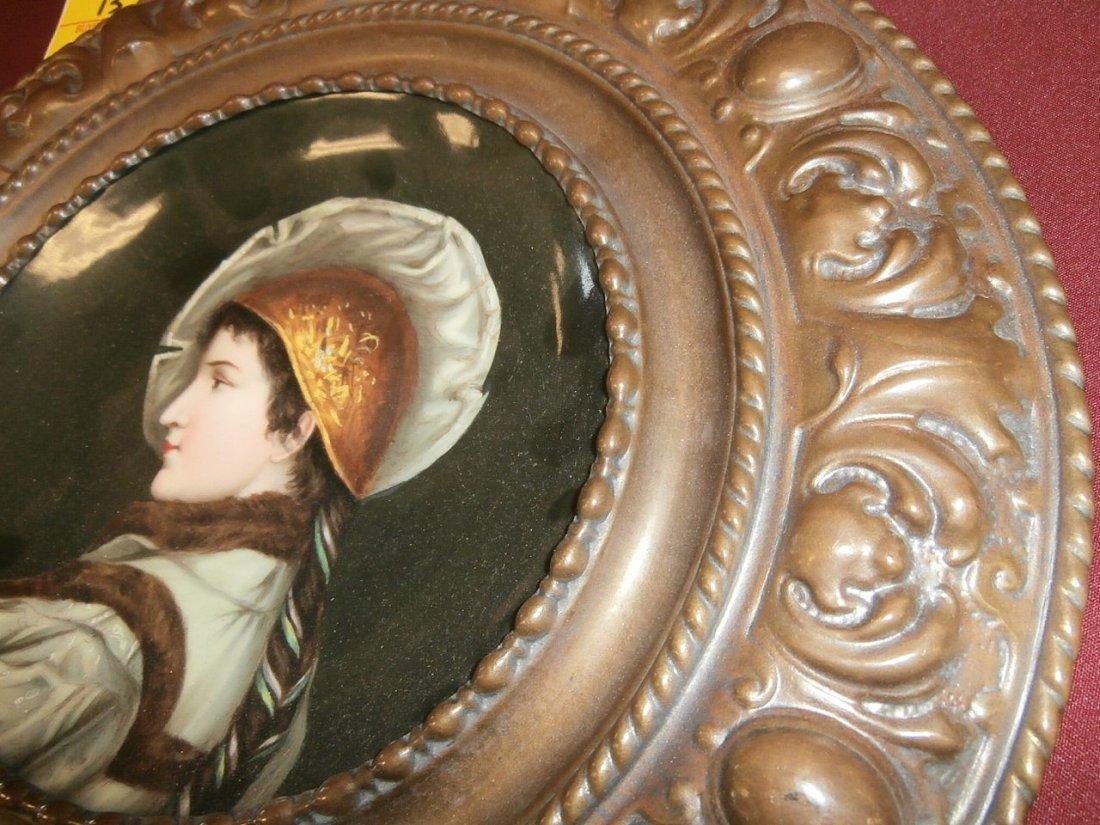 19th Century Porcelain Portrait Plaque - 2
