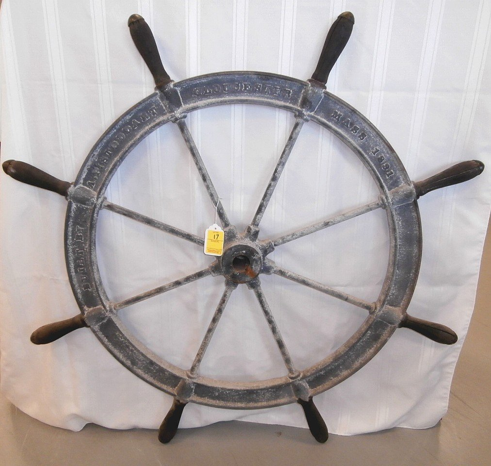 Antique Ships Wheel Gloucester Mass 1891