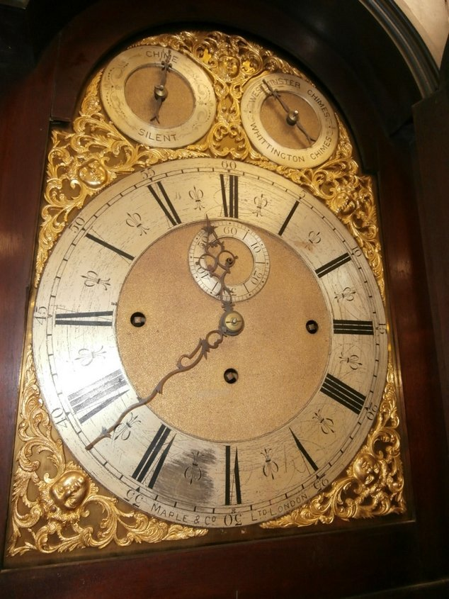 Maple and Co Ltd London Grandfather Tall Clock - 4