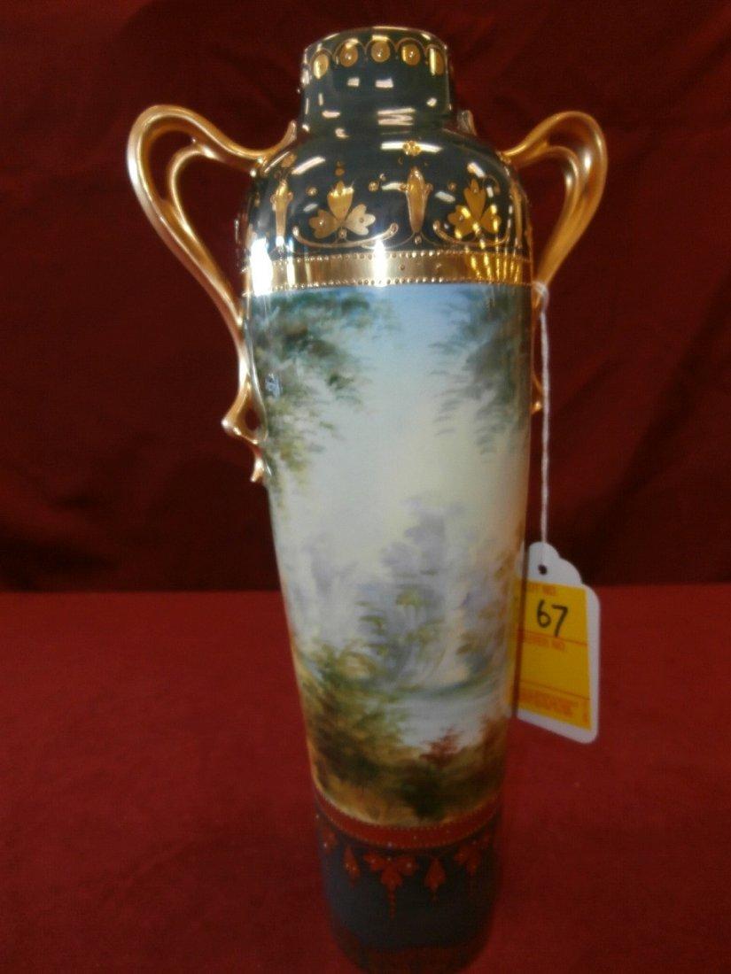 "Prov. Saxe E.S Germany Portrait Scenic Vase 11"" - 2"