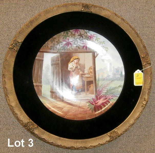 """Large Framed Scenic Porcelain 16"""" Charger"""