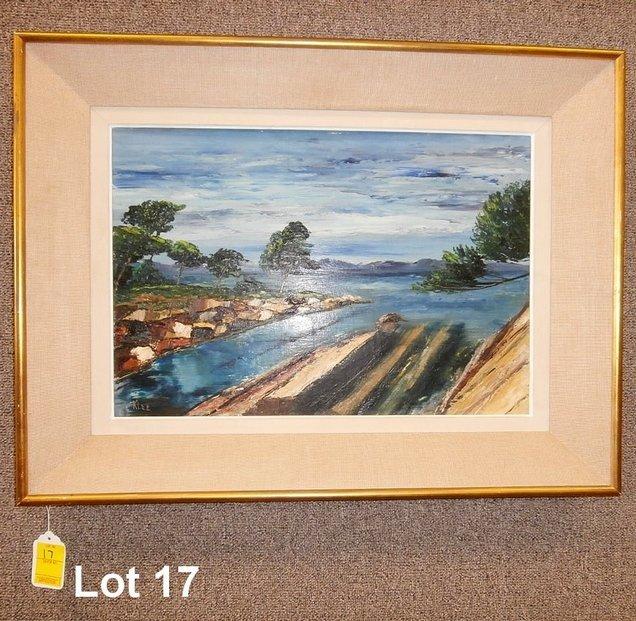 Klee Oil on Board Landscape & Village