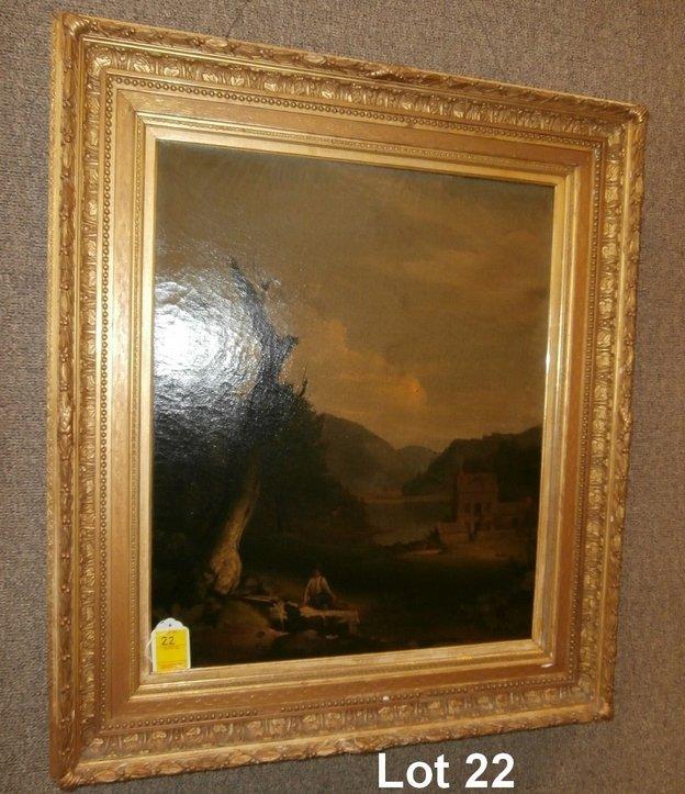 Walter Libbey 1850 Signed Landscape