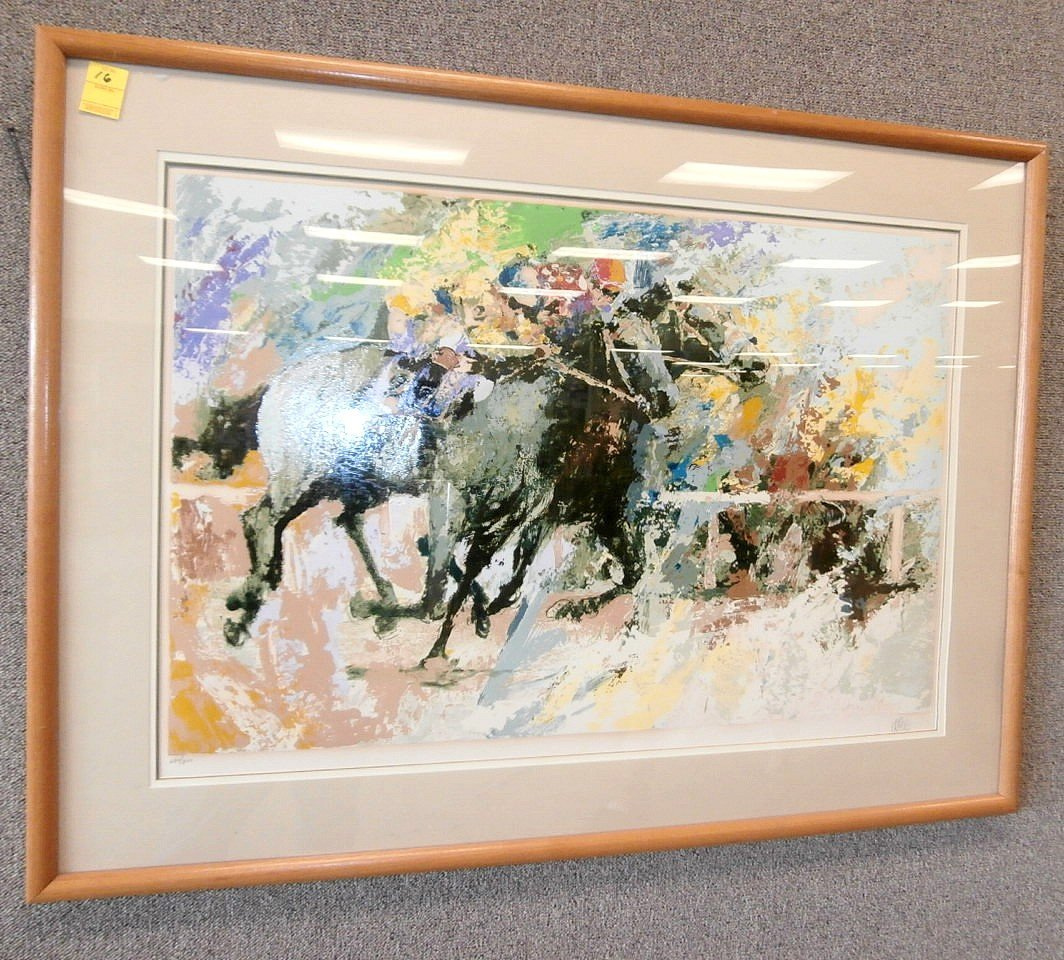 Signed 231/300 Horse Race Silk Screen