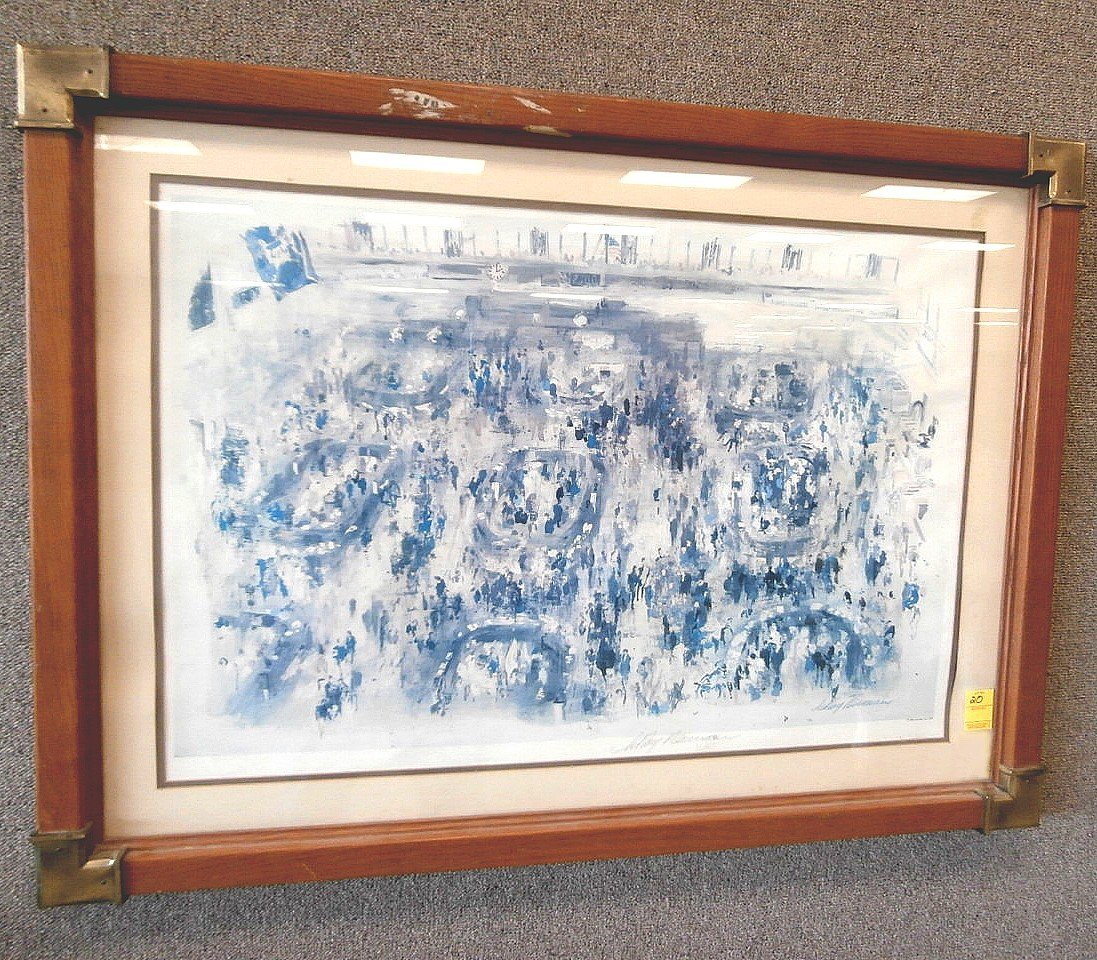 Leroy Neiman Signed Print 1977 Stock Exchange
