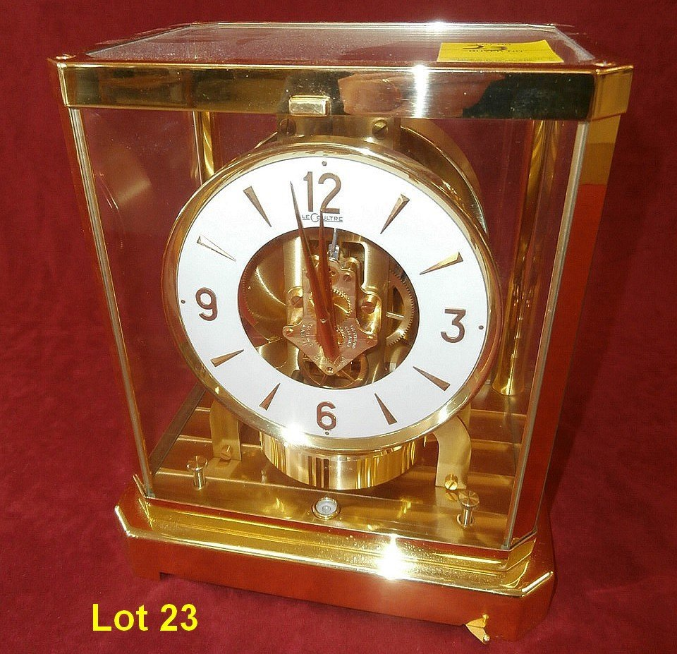 LeCoultre Atmos 15 Jewel Brass Clock