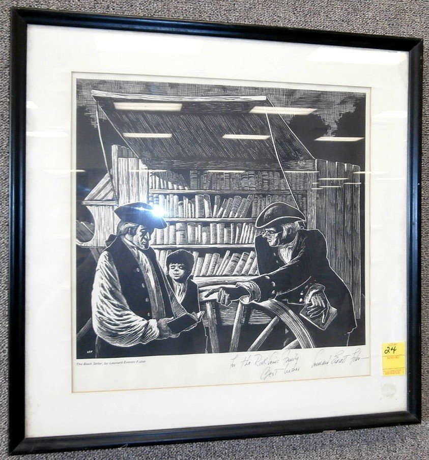 Leonard Everett Fisher Signed Print