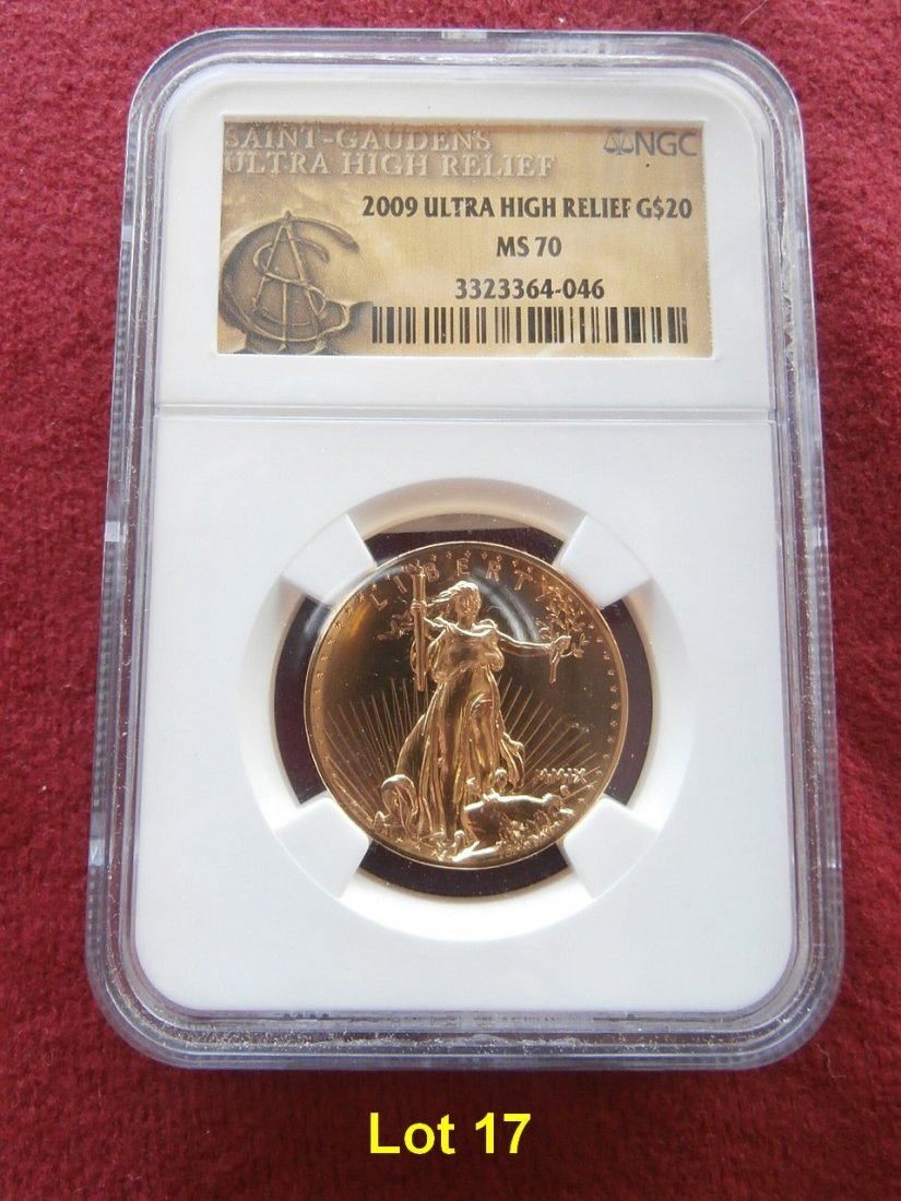 2009 $20 Gold NGC MS 70 Ultra High Relief
