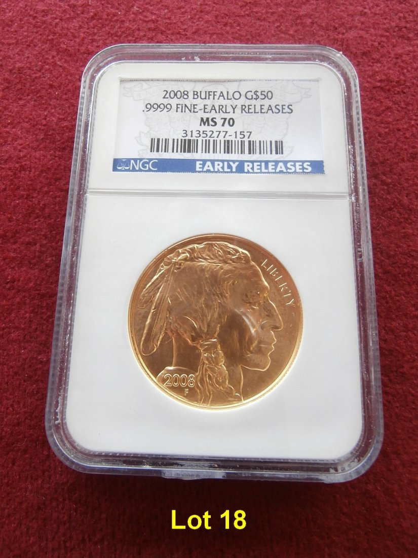 2008 $50 Buffalo Gold NGC MS 70 Early Release