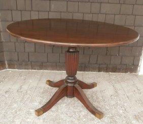 Custom Mahogany Tilt-top Breakfast Table