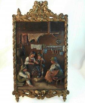 Bradley & Hubbard #1813 Cast Iron Painted Plaque
