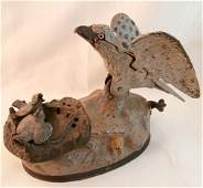 1888 Cast Iron Bald Eagle Bird Mechanical Bank