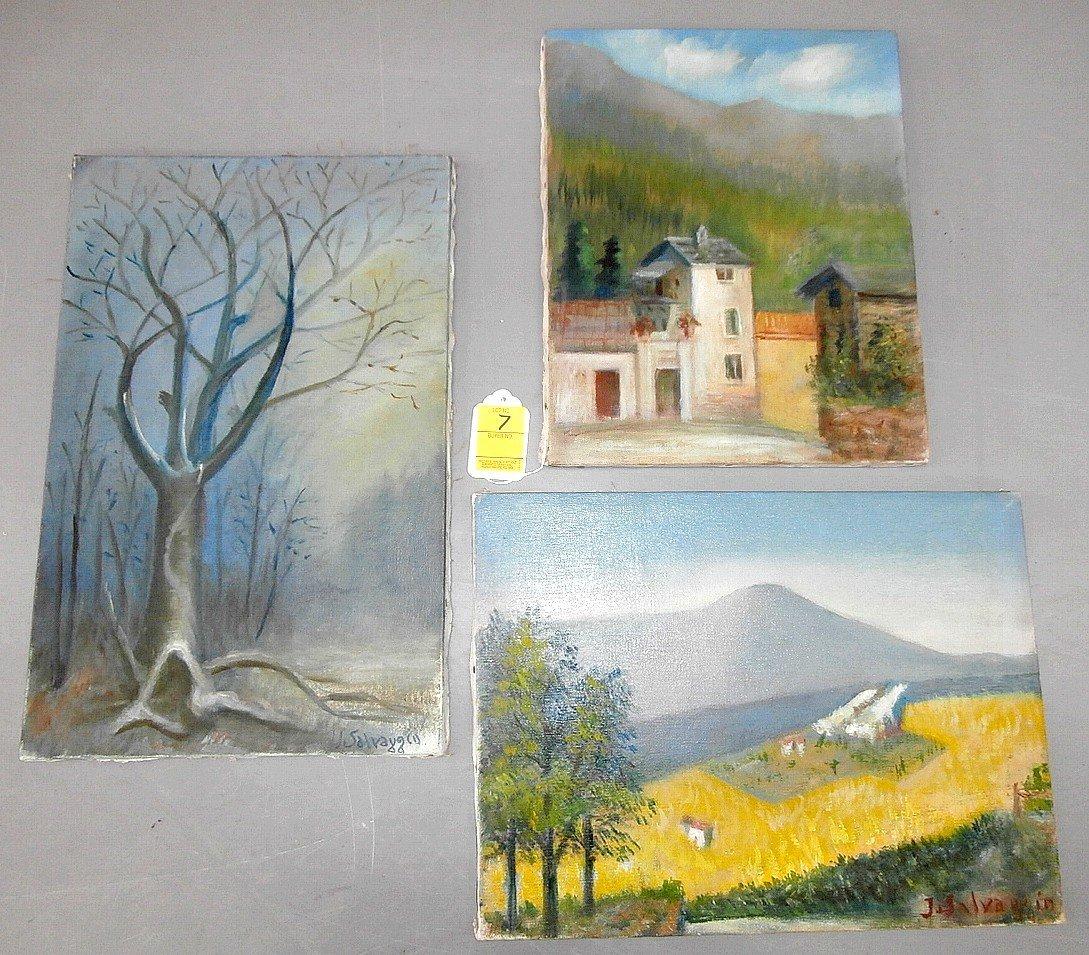 Joseph Salvaggio 3 Oil on Canvas Signed