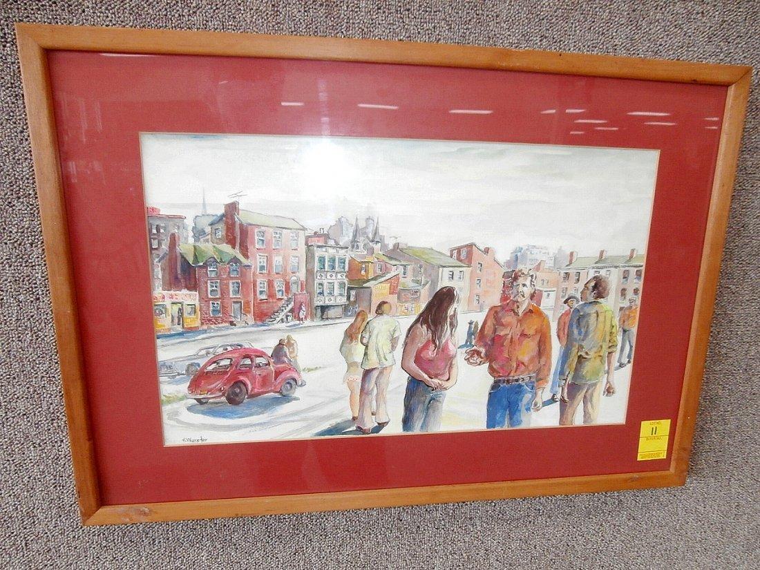Franklin Wurster Cityscape Watercolor